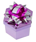 shining purple gift box